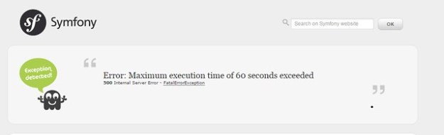 Error: Maximum execution time of 60 seconds exceeded