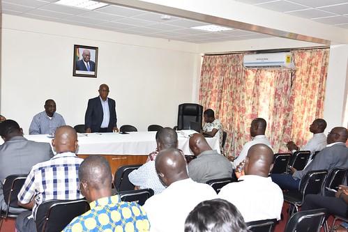 Hon Minister Dr Letsa Meets HoDs