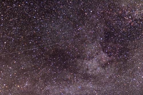 Perseids in the Milky Way