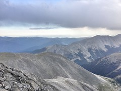 Mt Shavano summit view before the storm came in