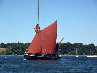 Sailing Barge Ardwina passes the RHYC. Photo: I Jacobson.