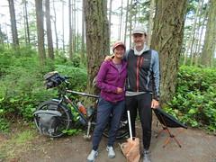 Pensionierte Radlerpaar Linda und Mike