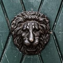 On the old door