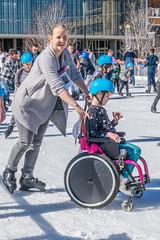 Hannah & Claire on ice