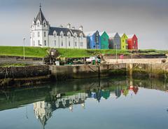 Spiegeling en reflecties Orkney islands Schotland