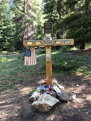 Memorial at the trailhead