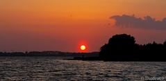 Sonnenuntergang auf Altefähr