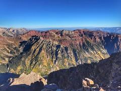 Pyramid Peak summit view towards the northwest