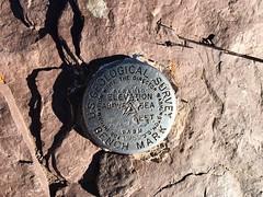 Pyramid Peak USGS marker