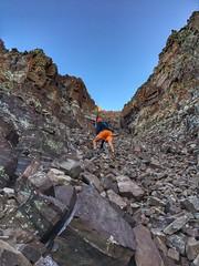 Matt heading up the first gully