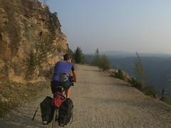 Der wunderschöne Myra-Trail - leider fehlt die Aussicht!