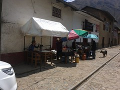 Vilca auf dem Dorfplatz