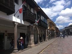 Balkone von der Kolonialzeit, in Cuso