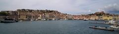 View on the yacht harbor of Portoferraio, Elba
