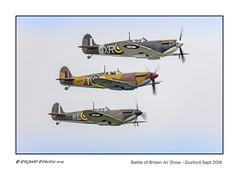 Stack of Spitfires - from the top: Mk II, Mk Vc, Mk I