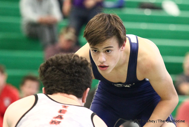 138 1st: Nick Moore (St. Paris Graham) won by decision over Blake Legred (United South Central) (Dec 4-2). 181020BJF0173