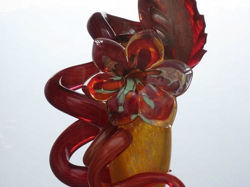 Red Chihuly glass