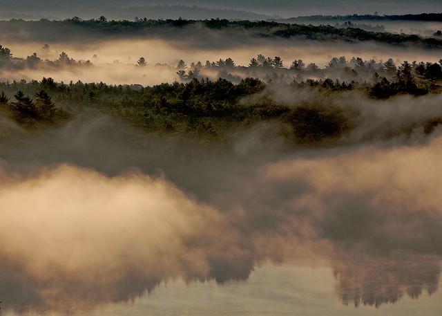 Morning Fog on the Shepaug Reservoir (color)
