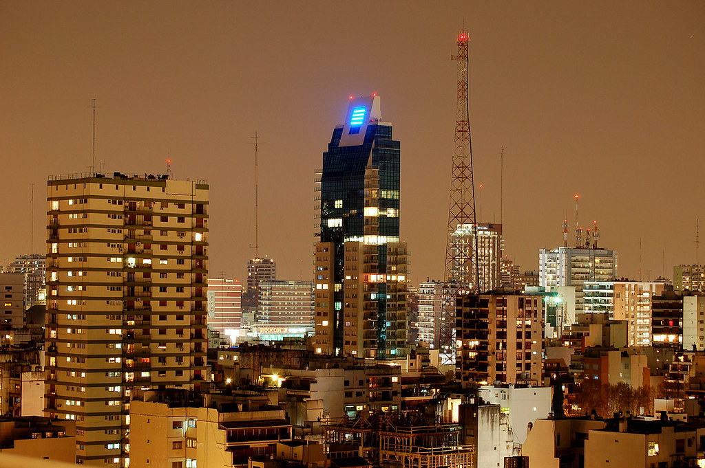 Buenos Aires at night