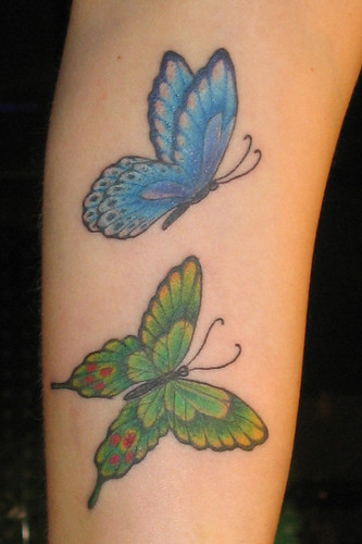 20 Blue Green Small Butterfly Tattoos Ideas And Designs