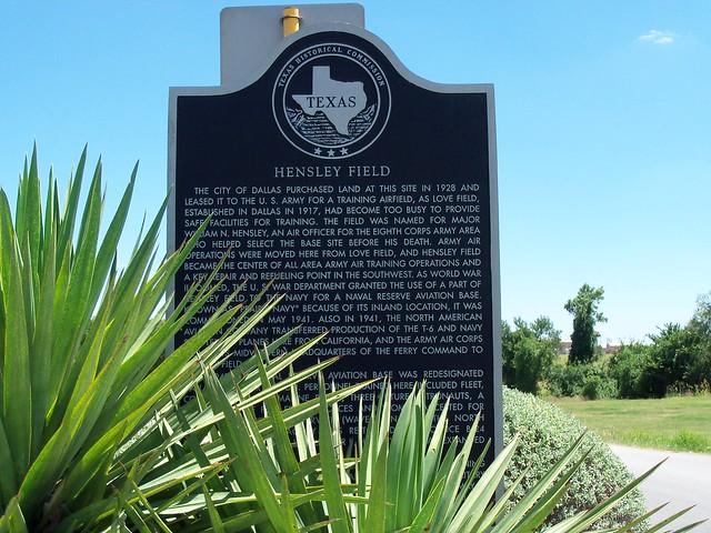 Hensley Field Grand Prairie Texas Historical Marker