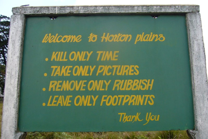 Welcome to Horton Plains