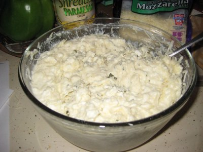 The cheese stuffing