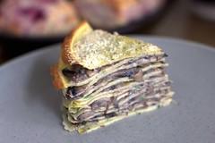 Mushroom Crepe Cake