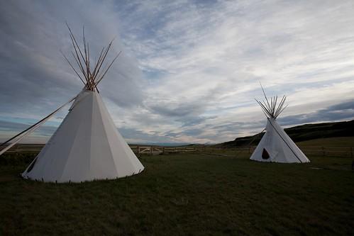 Acampar en un Tipi: Head-Smashed-In Buffalo Jump - Alberta, Canada