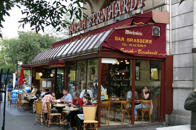 The Sarah Bernhardt Cafe in Paris  Typical of a cafe in a