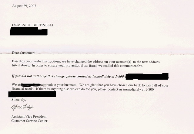 Application Letter For Change Of Address In Bank Account Best Paper Editing Services