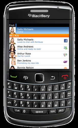 Nimbuzz for Blackberry