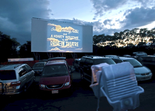 Cape Cod: Drive-In Movie Theater at Wellfleet, 8:29pm
