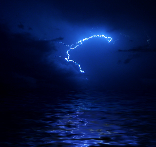 Human life is as evanescent as  a flash of lightning...