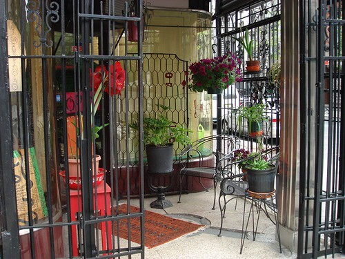 derek dominy's handmade gates from recycled iron @154 stanton street by denise carbonell