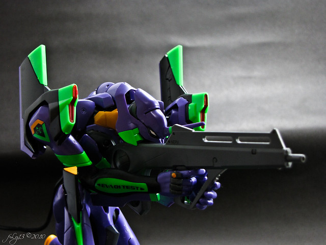 Bandai Model Kit Evangelion 2.0 EVA-01 gun DIY box