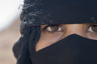 Woman in Desert near Sharm el Sheik