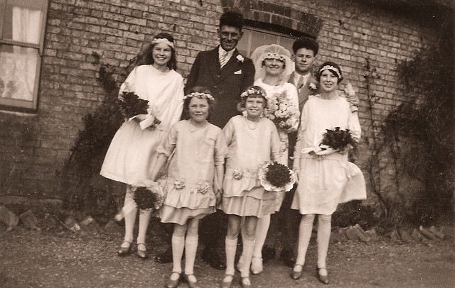 Barber and Yarrow marriage, 1929