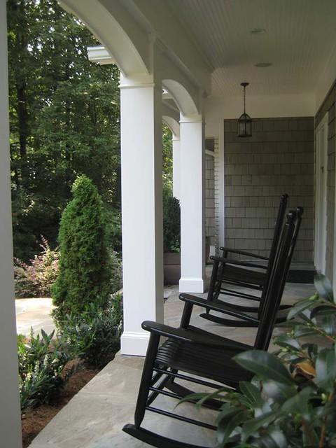 Wood Columns Front Porch