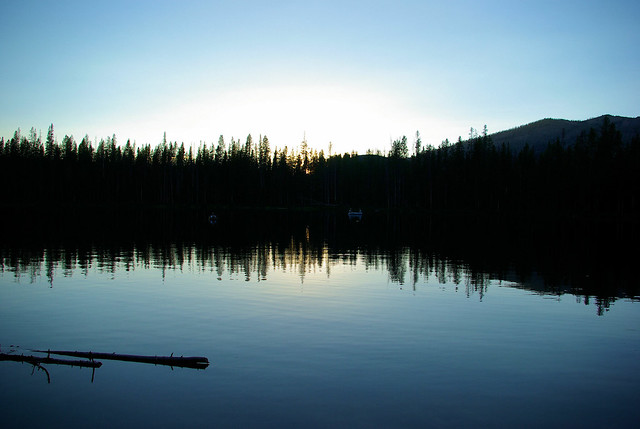 Twilight at Martin Lake, Idaho, July 27, 2010