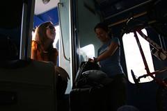 tutors in luggage compartment