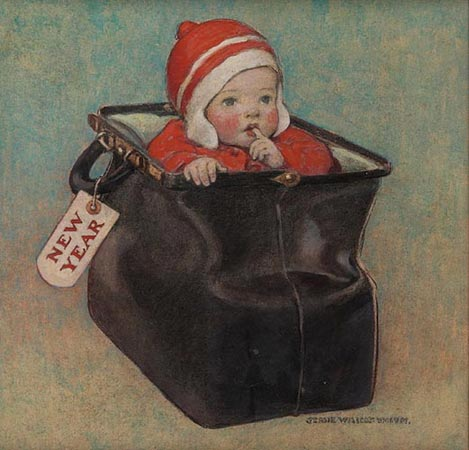 Jessie Willcox Smith, New Year's Baby, c.1910
