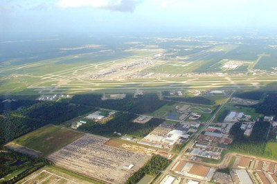 Aerial view of IAH, 27 July 2006