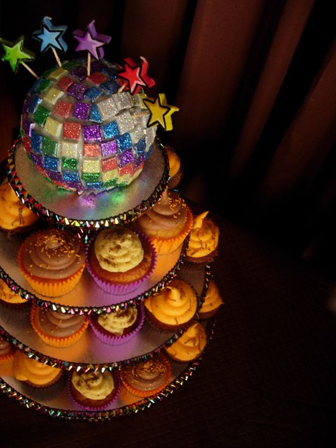 Disco Ball Cake Amp Cupcakes Flickr Photo Sharing