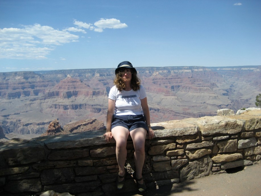 Stephanie at the Grand Canyon