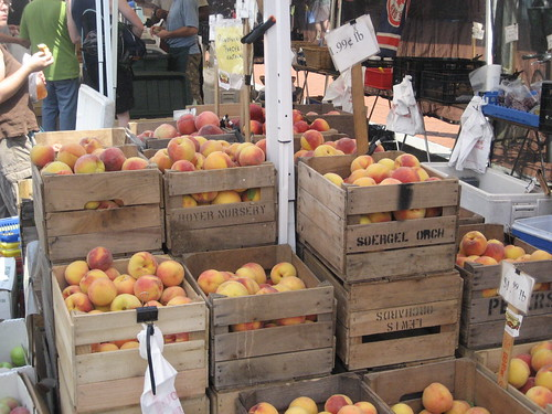 peaches at the DC market
