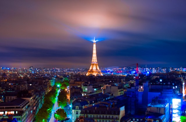 Paris Skyline - Eiffel Tower Night Capture
