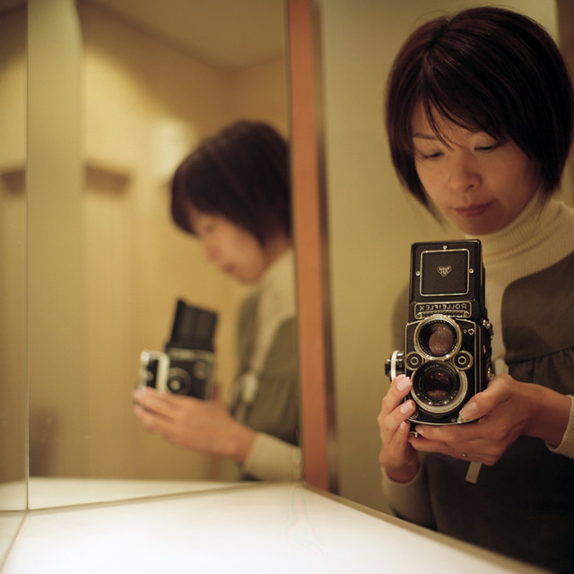 me with Rollei♪