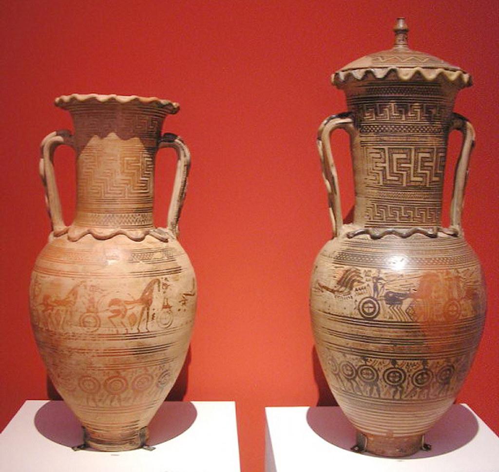 Geometrica ceramica de la necropolis de Dypilon Museo Arqueologico Nacional de Atenas Grecia 175