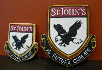 St.John's School crest in Shortbread n Gingerbread